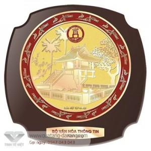 Kỷ niệm chương gỗ đồng _ TTV  0016