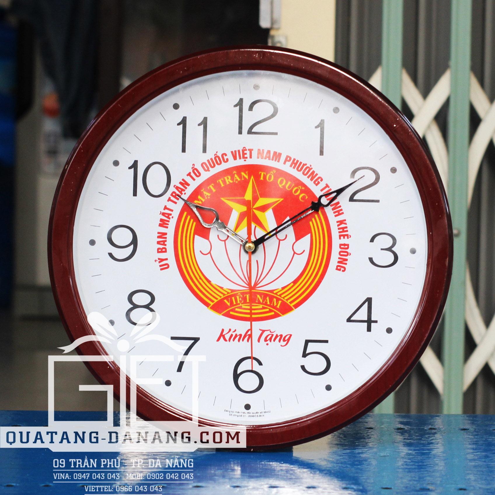 Sản xuất, cung cấp đồng hồ treo tường in quảng cáo tại Đà Nẵng – Gọi: 0902 042 043